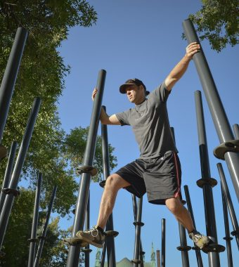 Outdoor fitness equipment for Calgary parks