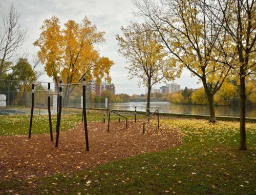 Outdoor fitness equipment for Ottawa parks