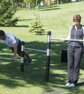 Un circuit d'entraînement en plein air au parc des Chutes