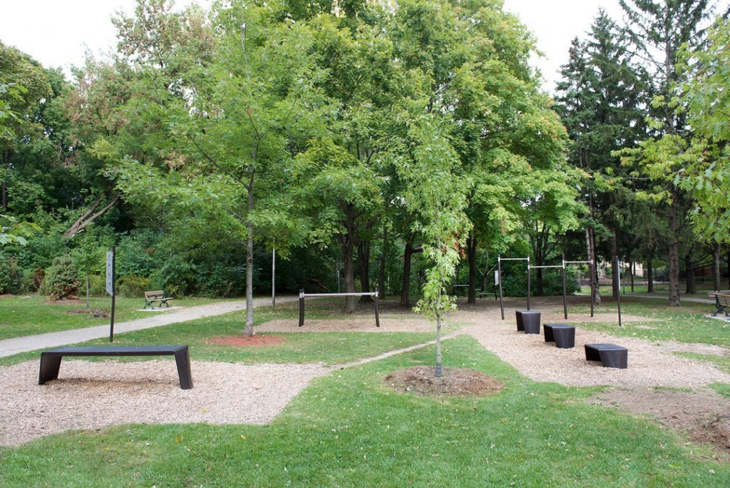 Outdoor fitness equipment for Toronto parks